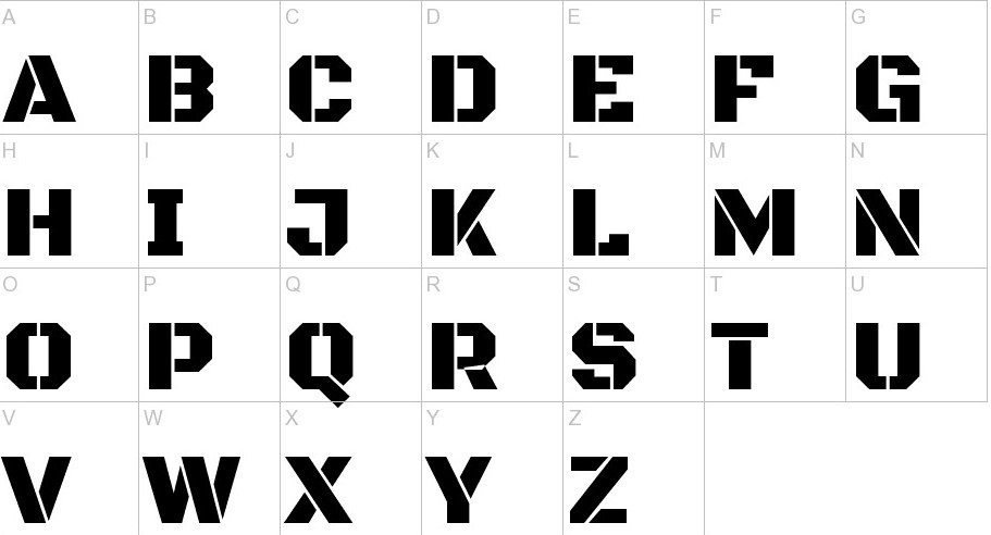 Black Ops One Font View