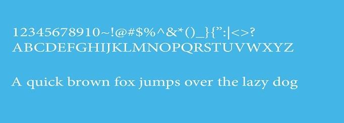 Minion Pro Font View
