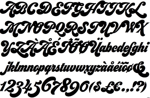 Seventies Font View