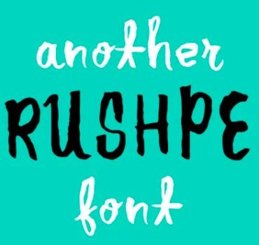 Another Brush Font