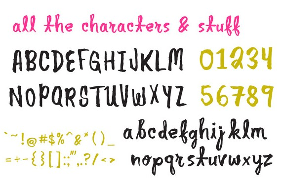 Another Brush Font View
