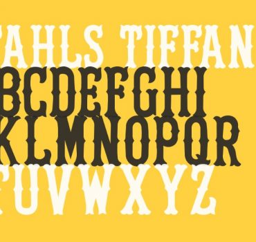 Stahls Tiffany Font View