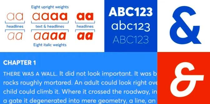 Averta Font View