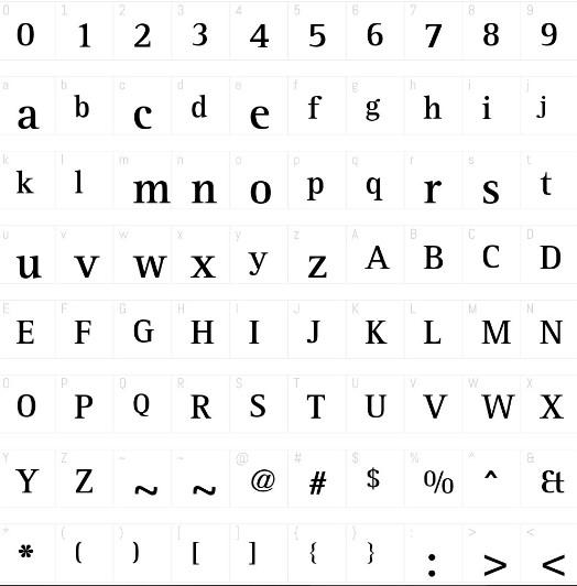 Rotijs Serif Font View