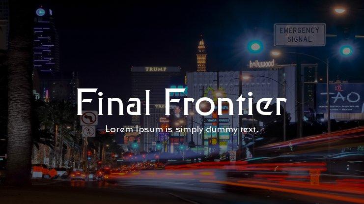 Final Frontier Font