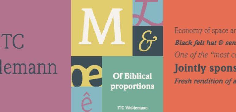 ITC Weidemann Font